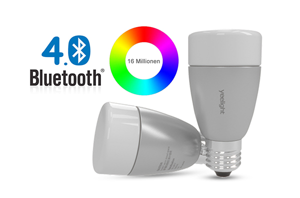yeelight blue bluetooth 4 0 led lamp e27 via smartphone app controlled dimmable ebay. Black Bedroom Furniture Sets. Home Design Ideas